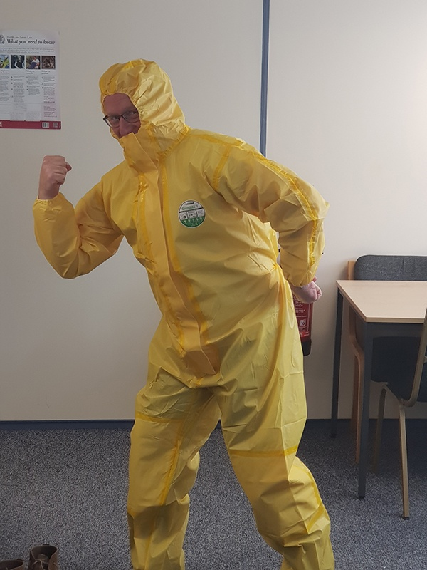 Chris modelling ADR PPE
