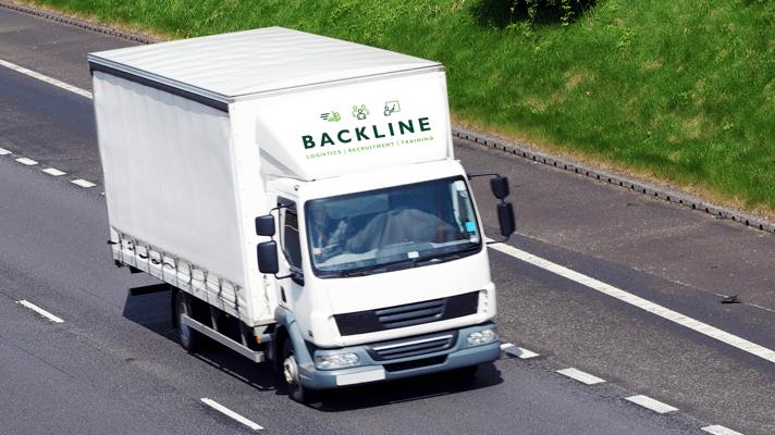 7.5 tonne lorry with Backline logo on deflector