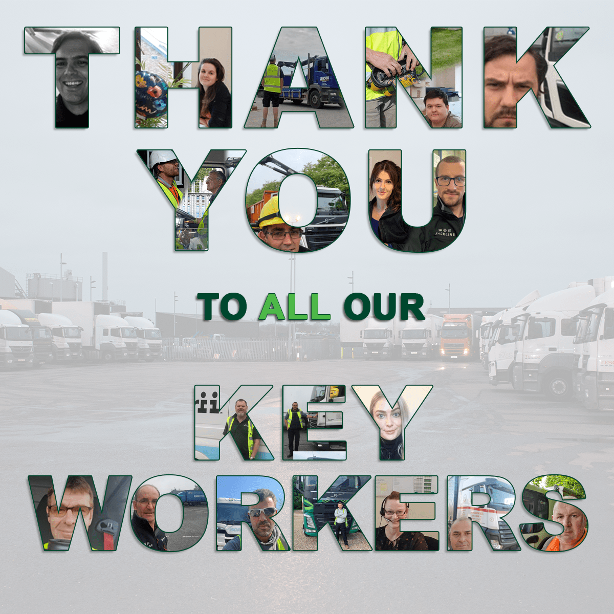 thank you to all our key workers photo collage